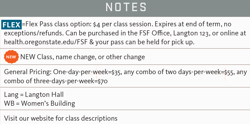 FSF fall 2017 notes schedule