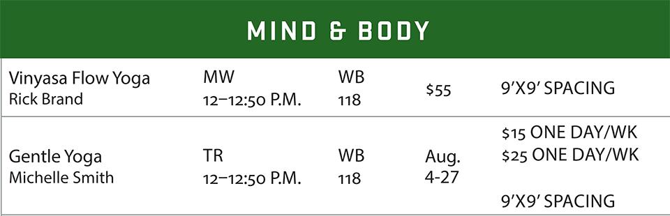 fsf schedule summer 2020 mind and body