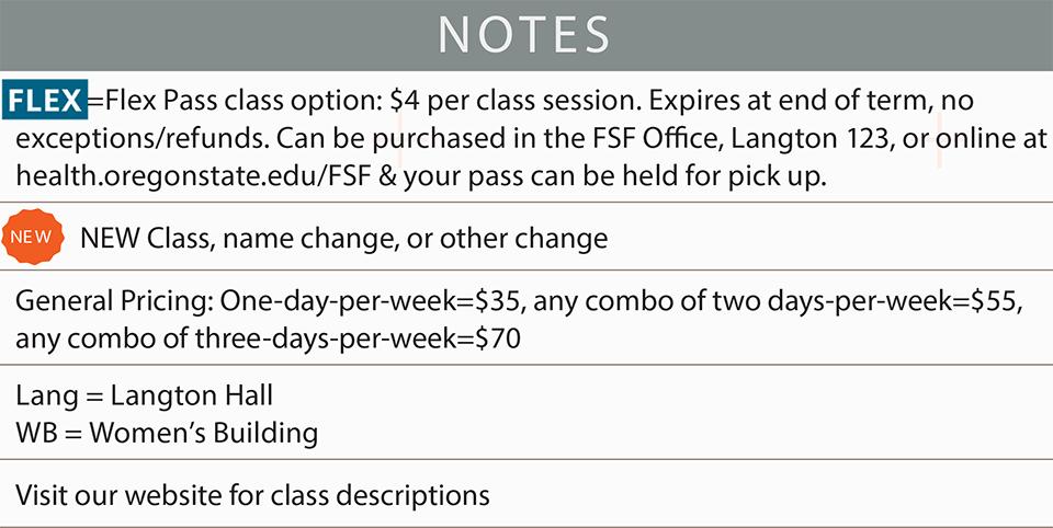 fsf schedule summer 2019 notes