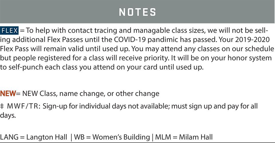 fsf schedule winter 2021 notes