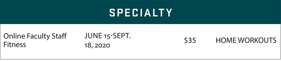 fsf schedule summer 2020 specialty