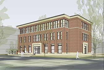 Artist rendering of final Hallie Ford Center appearance