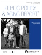 cover of public policy and aging report