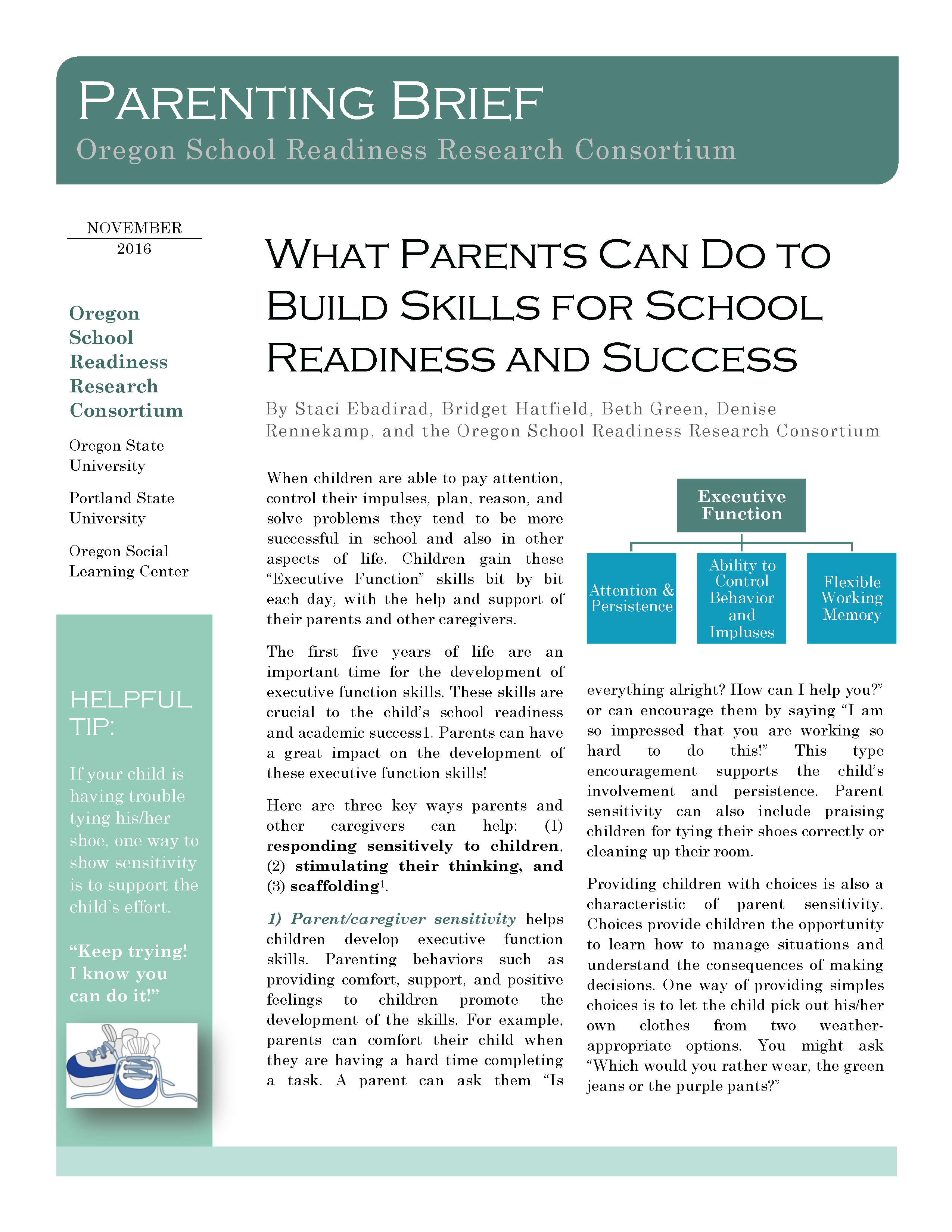 What Parents Can Do to Build Skills for School Readiness and Success