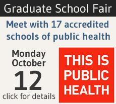 This is public health graduate school fair