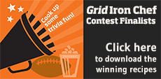GridIron Chef Contest 2013 recipes