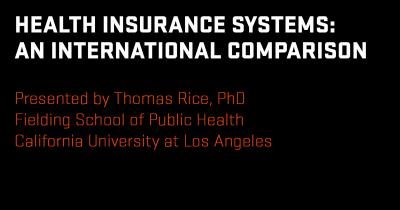 Research seminar: Thomas Rice, Ph.D.
