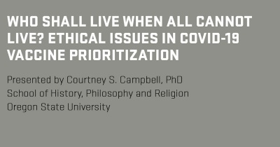 Research seminar: Courtney S. Campbell, PhD