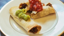 Baked Black Bean & Sweet Potato Taquitos