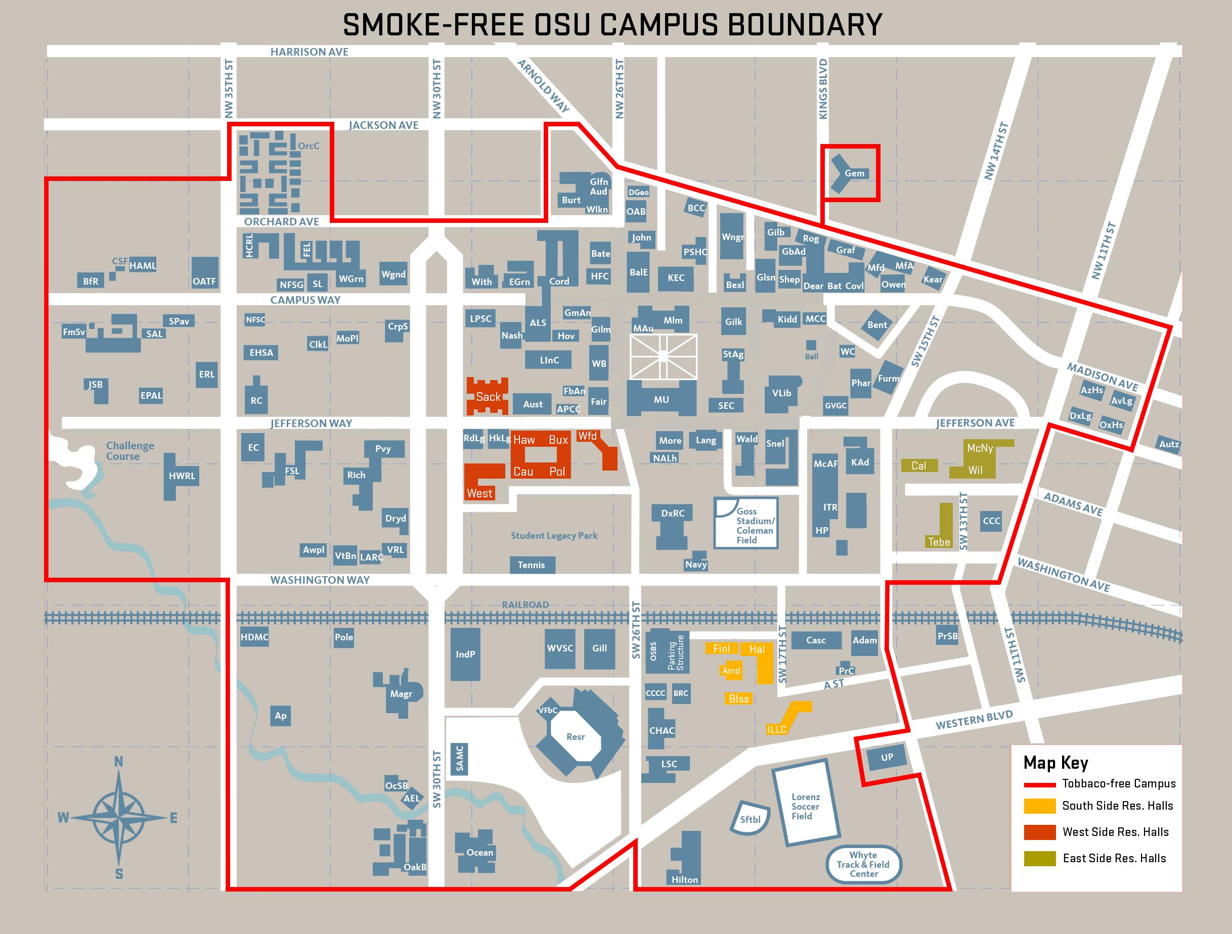 oregon state university campus map pdf Tobacco Free Policy Tobacco Free Osu Oregon State University oregon state university campus map pdf